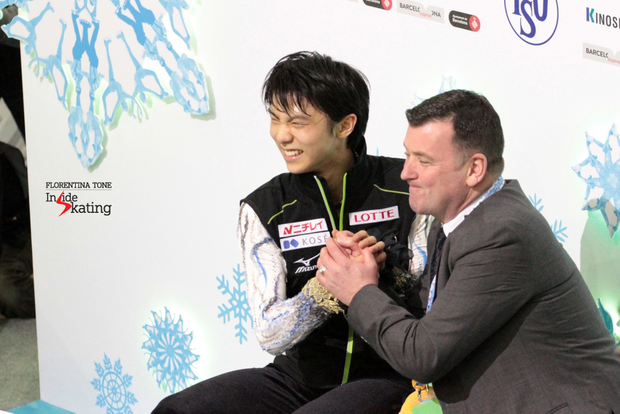 Yuzuru Hanyu and Brian Orser: pure joy. The 20-year-old Japanese skater from Sendai manages to retain his Grand Prix Final title