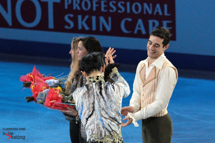 Wonderful friends sharing the podium in Barcelona; that's what I call a great outcome of the men's event at 2014 GPF