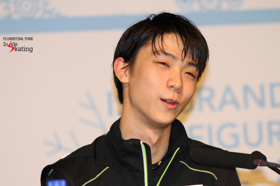 "Yuzuru Hanyu on his free skate: ""I'm not fully recovered yer, but I did it and it was almost perfect, so I'm really happy today"""