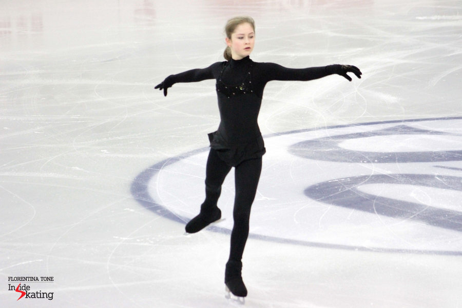 The 16-year-old Julia Lipnitskaia