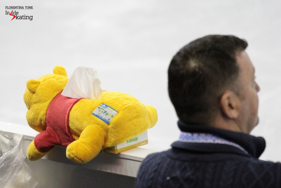 Brian Orser and Winnie Pooh