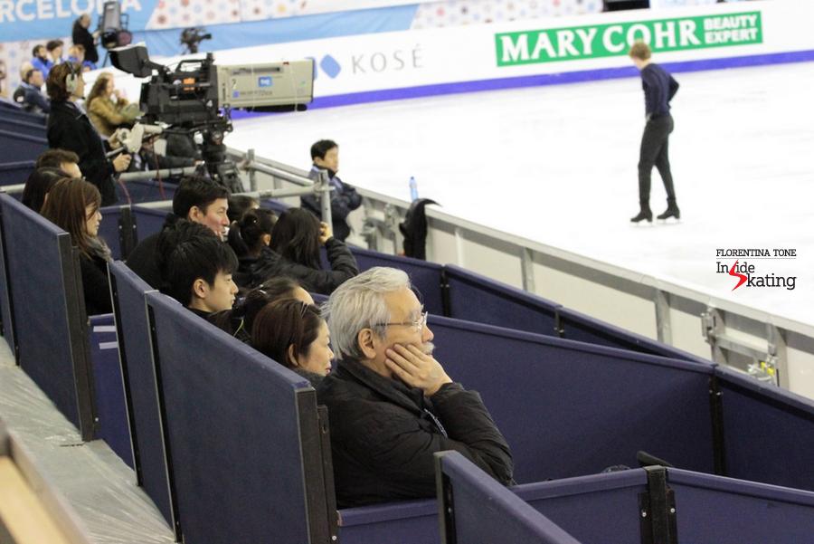 The Japanese team follows the practice