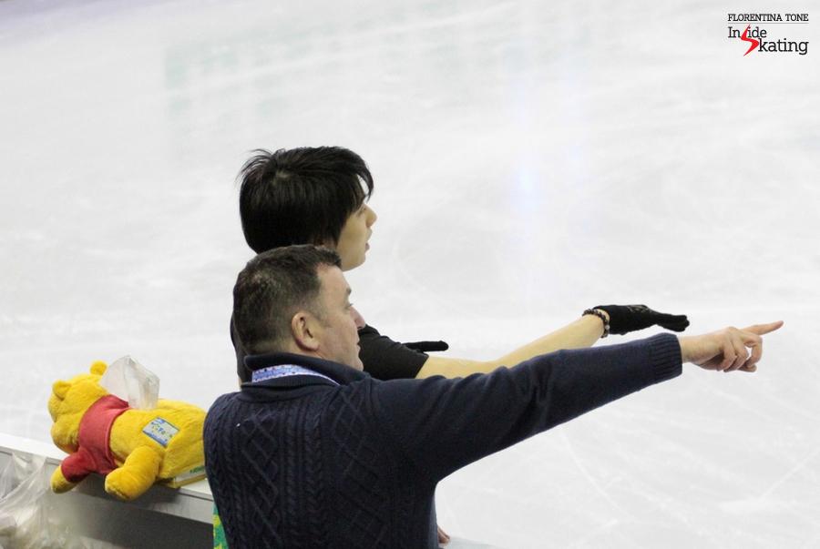 Brian Orser and Yuzuru Hanyu