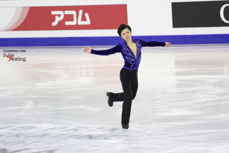 Shoma, skating his short program in Barcelona