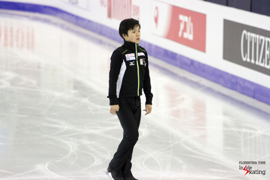 Well, in the morning of the free program, on December 12th, things went a little bit rough for Shoma Uno...
