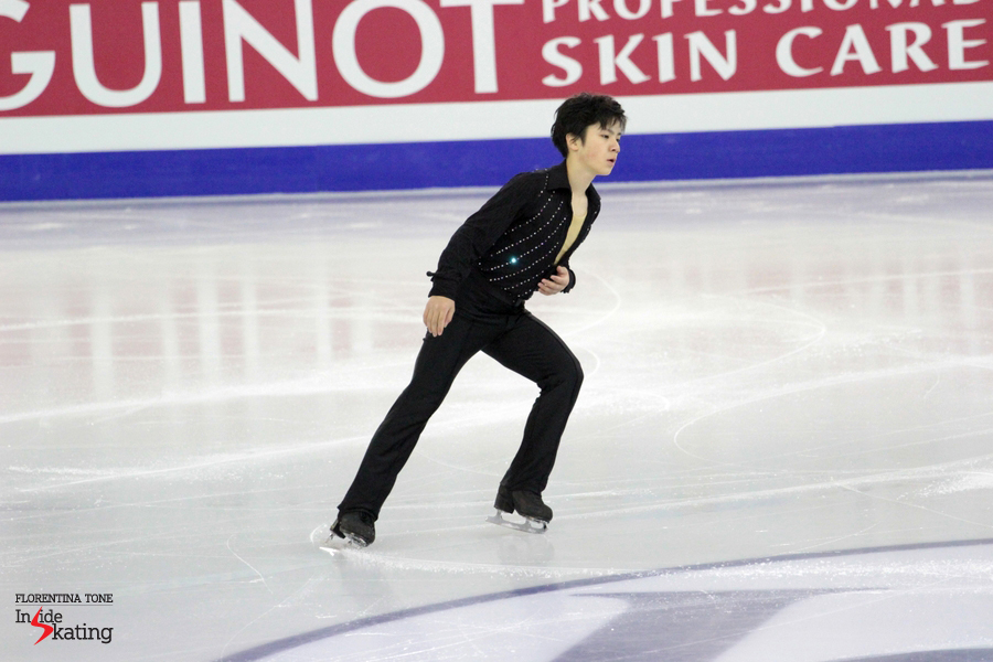 Nine hours later, Shoma Uno was ready to take the ice for the free program