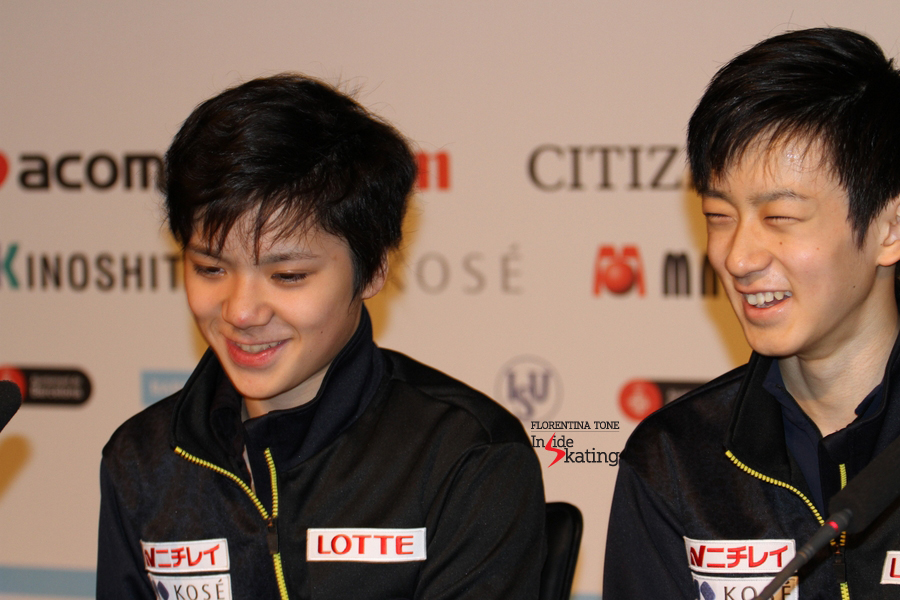 Japan takes home two medals in the junior men's event: gold for Shoma Uno, silver for Sota Yamamoto