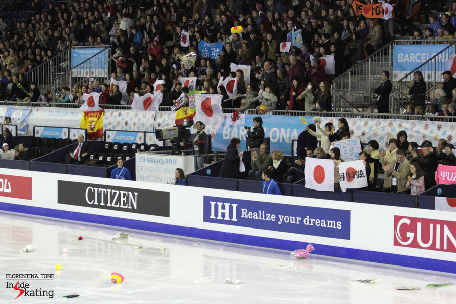 Japanese flags in the arena