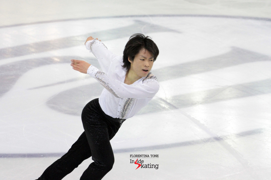 Tatsuki Machida during his SP in Barcelona; a program that he'd skated with his heart on his palms