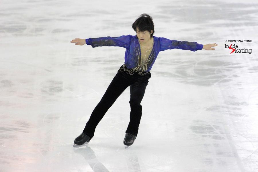 Tatsuki Machida skating to Beethoven's Symphony no. 9 in Barcelona, at the Grand Prix Final
