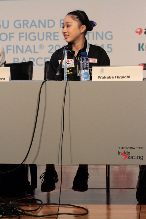 The Junior bronze medalist during press conference