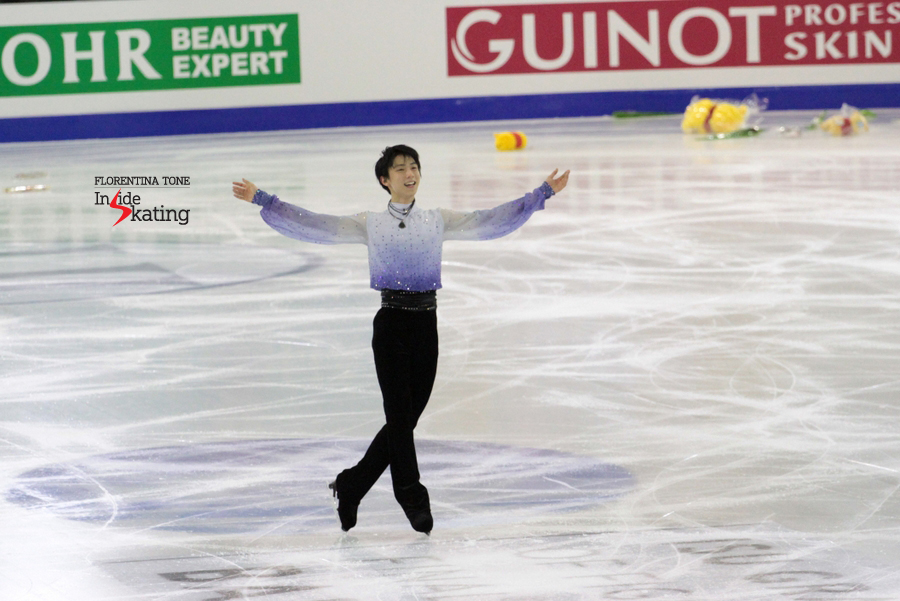 A happy Yuzuru in Barcelona