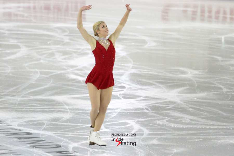 Ashley Wagner in Barcelona, at 2014 GPF, during her free program