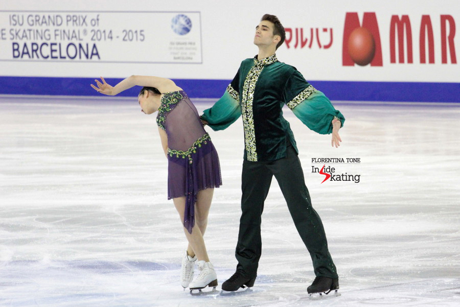 Betina Popova and Yuri Vlasenko took the bronze in Barcelona, at the 2014 JGPF