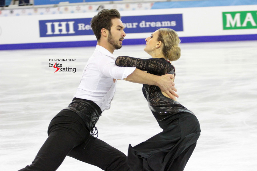 "Guillaume Cizeron on performing their SD in Barcelona: ""We skated in Madrid at the beginning of the season, so it is a bit like coming back to where it started. We are skating for a public that knows the Paso, so they make good judges""."