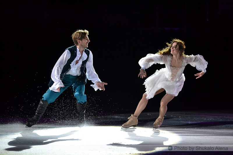 "Margarita Drobiazko and Povilas Vanagas, the princess and the prince in the ice show ""The Secret of the Treasure Island"" (Minsk, December 27th)"