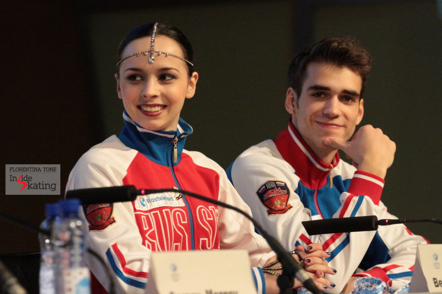 The bronze medalists, Betina and Yuri