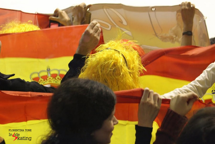 Spanish flags and red-yellow wigs in Zagreb, during the Europeans