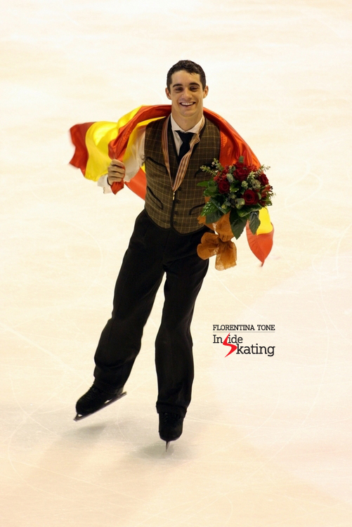Javier Fernandez, the embodiment of joy in Zagreb, after winning his first European medal - the gold one