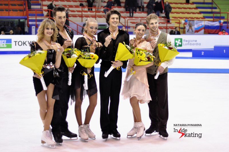 2013 Junior Worlds: gold for Alexandra Stepanova and Ivan Bukin, silver for Gabriella Papadakis and Guillaume Cizeron, bronze for Alexandra Aldridge and Daniel Eaton