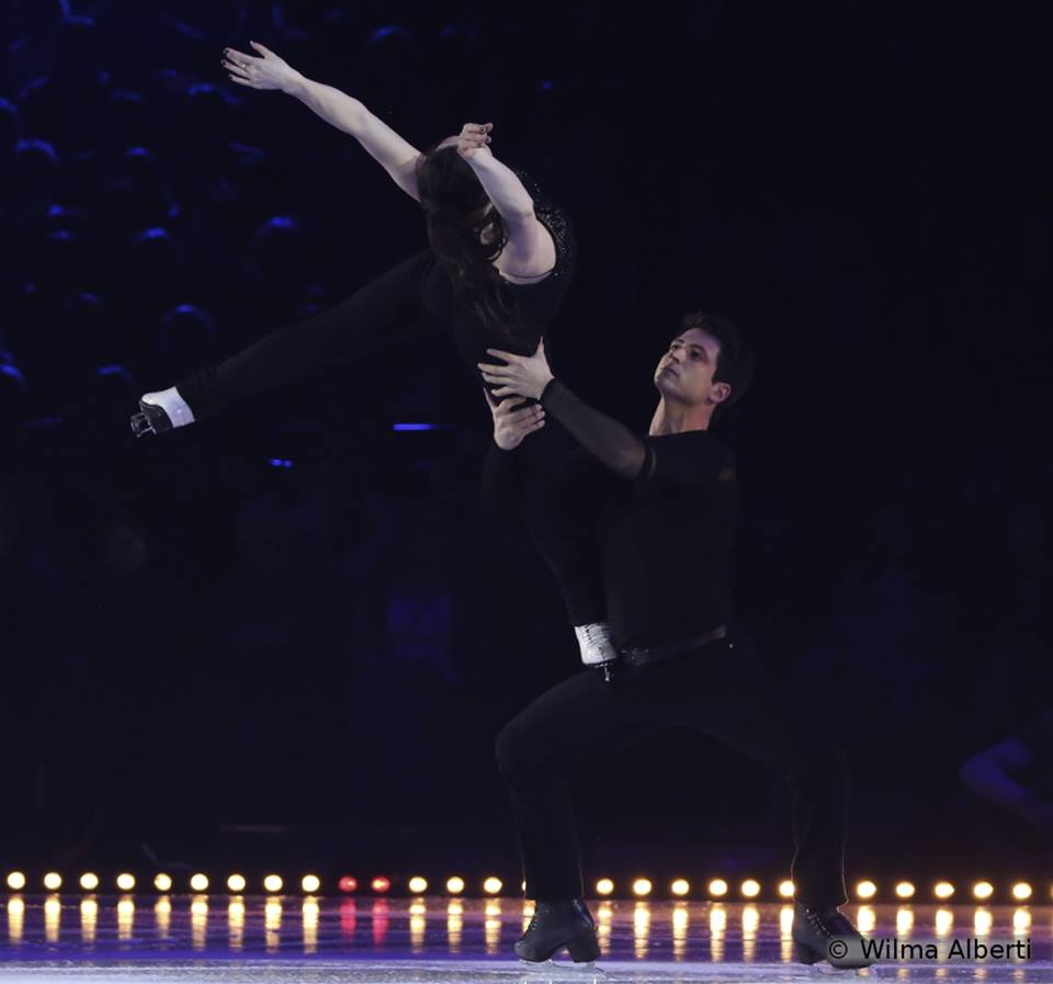"Tessa Virtue and Scott Moir skating to Nelly Furtado singing ""Say it right"""