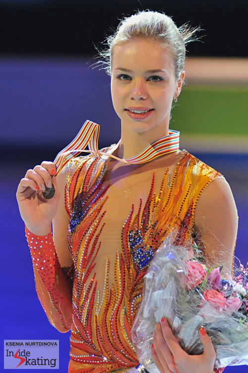 Anna Pogorilaya seized the bronze medal at the first European Championships of her career