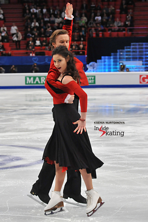 Elena Ilinykh and Ruslan Zhiganshin in Stockholm, during their short dance