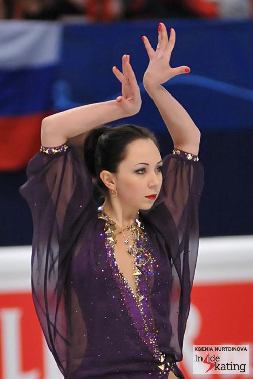 Elizaveta, on the day of the free skate in Stockholm