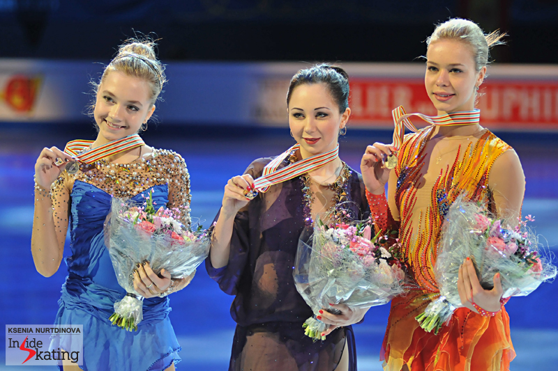 A month ago in Stockholm, Russia captured the podium in the ladies' event at the Europeans for the fifth time in the history of this particular competition(1999, 2000, 2001, 2002 and 2015)
