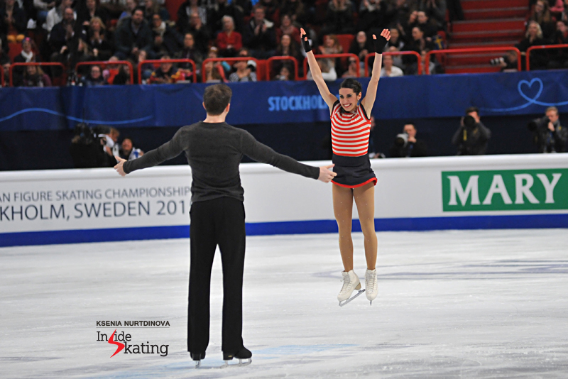 """""""Once again you guys rocked! I'm so impressed with your progress"""", wrote Meagan Duhamel on twitter, congratulating Valentina and Ondrej for their fourth place at the Europeans. Valentina's joy at the end of their free skate - absolutely priceless."""