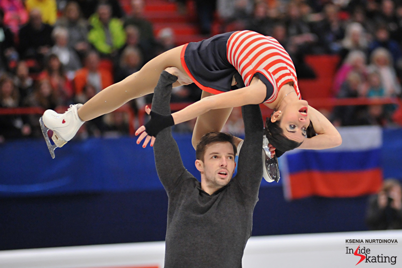 In their debut (as a team) at the Europeans, Valentina Marchei and Ondrej Hotarek placed fourth with 175.39 points overall – and this was clearly one of the most beautiful stories of this year's edition of the continental competition