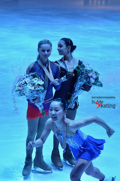 Wakaba Higuchi's joy, during the ladies' victory ceremony in Tallinn, was absolutely contagious: the Japanese was thrilled to have won a medal at the Junior Worlds