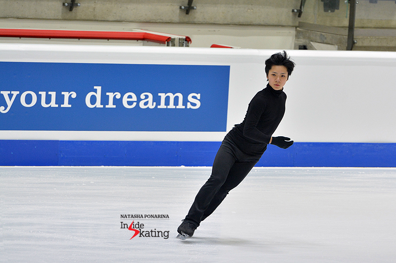 Shoma Uno, during practice on Tuesday (Tallinn, 2015 Junior Worlds)