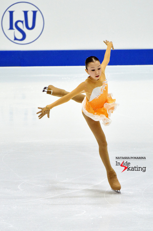"A touching free skate, to ""Papa, can you hear me?"", from Elizabet Tursynbaeva in Tallinn"
