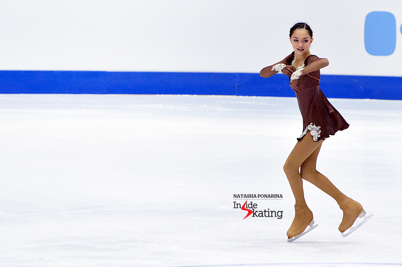 "An interesting and intriguing free skate from Evgenia Medvedeva in Tallinn, to ""A Midsummer Night's Dream"" and ""Tango Tschak"""