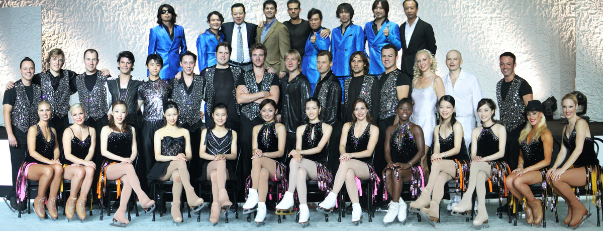 The full cast of 2010 Fantasy on Ice (Japan); click to enlarge (photo courtesy of Antonio Najarro)