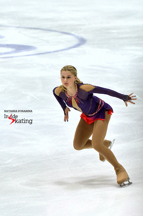 "In the character of the music: Serafima, skating to ""Oblivion"" and ""I Love You, I Hate You"" (free skate in Tallinn, at 2015 Junior Worlds)"