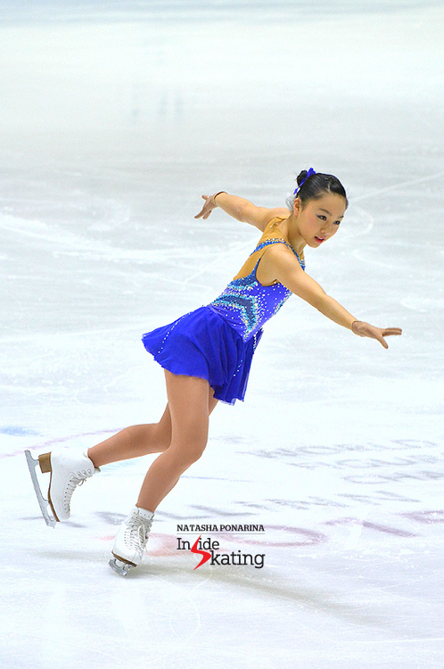 "A glorious free skate, to Gershwin's ""Piano Concerto in F"", and a bronze medal to reward Wakaba Higuchi's performance in Tallinn, at the Junior Worlds"