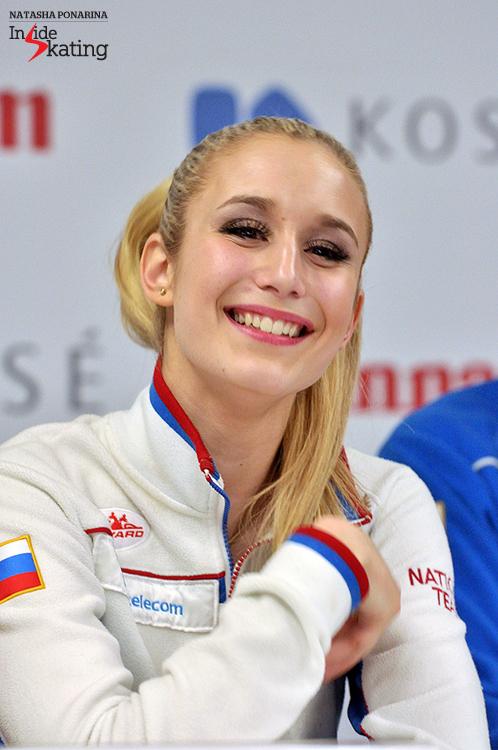 Anna Yanovskaya press conference after SP