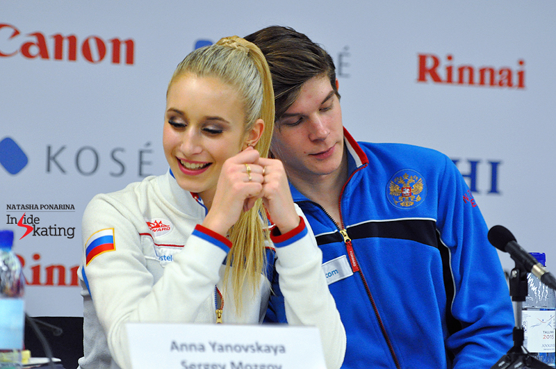 Anna and Sergey press conference after SP Tallinn