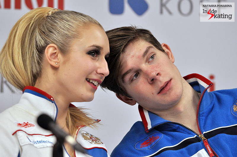 Anna and Sergey press conference after SP