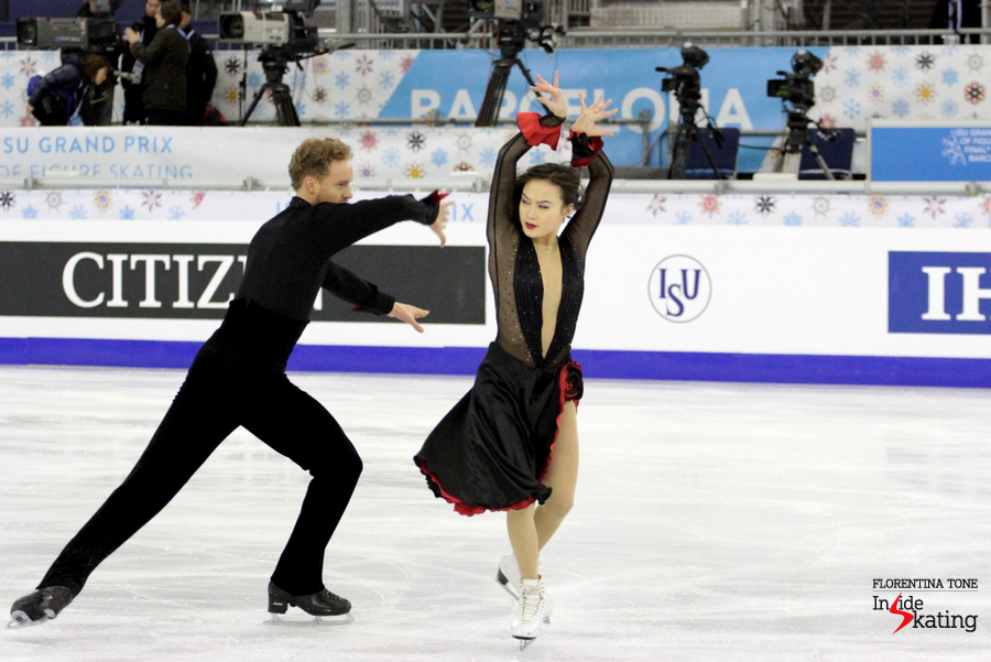 Madison Chock, Evan Bates - and their Don Quixote short dance in Barcelona, at the Grand Prix Final (December 2014)