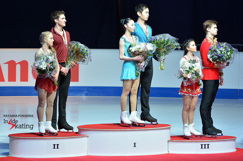 The Chinese pair skaters Xiaoyu Yu and Yang Jin repeated as champions at this year's edition of the Junior Worlds