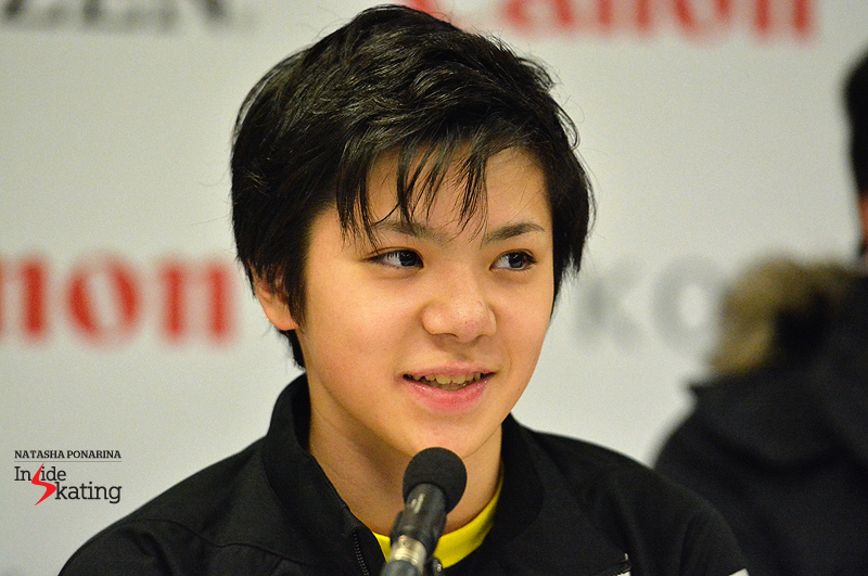 Press conference SP 6 Shoma Uno