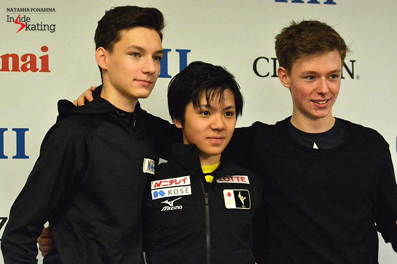 The short program medalists in Tallinn, at 2015 Junior Worlds