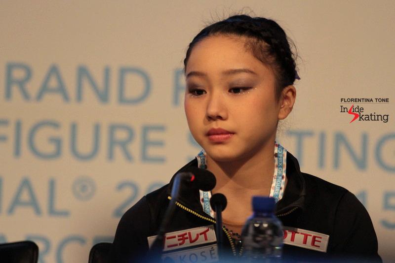 Wakaba Higuchi, bronze medalist in Barcelona, at JGPF