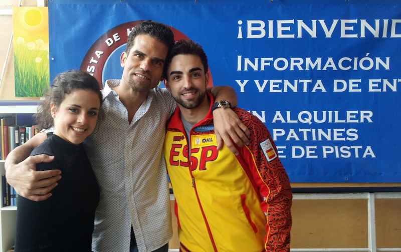 Sara and Adria alongside Antonio Najarro in Madrid, in May 2014 (photo courtesy of Sara Hurtado)