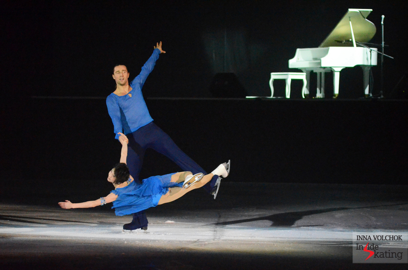 "Yuko Kavaguti and Alexander Smirnov, skating in St. Petersburg one of their most beautiful programs, to Debussy's ""Clair de Lune"""