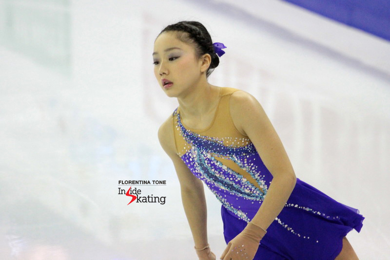 Wakaba, during the 6-minute warm-up prior to the free skate