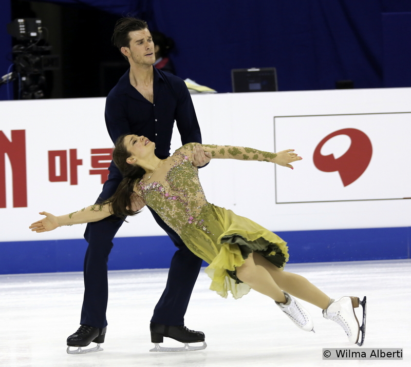 A historic 11th place for Denmark's Laurence Fournier Beaudry and Nikolaj Sorensen at 2015 Worlds – and a beautiful free dance, to music by Frank Sinatra and Karl Hugo van Kerckhove (practice session in Shanghai)